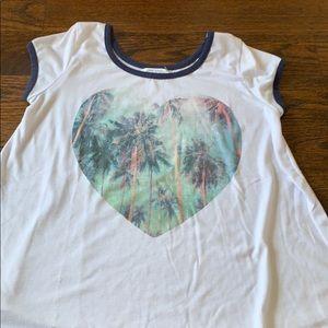 Ten sixty Sherman T palm tree heart sz Lg